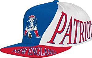 New England Patriots Mitchell & Ness The Skew Retro Vintage Snap Back Hat by Mitchell & Ness