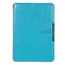 Kindle Paperwhite Case, Jacket Sky Blue Slim Leather Flip Case with magnetic closure for Kindle Paperwhite (Auto wake and sleep) - Sky Blue