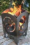Feuerkorb - Feuersäule Motiv Yin/Yang L, Terrassenofen, Lichtspiel