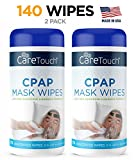 Care Touch CPAP Cleaning Mask Wipes - Unscented, Lint Free - 70 Wipes, Pack of 2 - 140 Wipes Total
