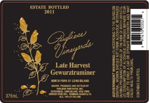 2011 Pugliese Vineyards Late Harvest Gewürztraminer 375 Ml