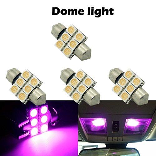 partsam 4pcs 31mm 6smd led festoon dome light lamp car bulbs purple 3021 3022 de3175 12v for. Black Bedroom Furniture Sets. Home Design Ideas