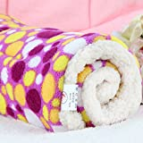 Micat® Super Soft Fleece-Haustier-Bett Bettdecken Welpen-Hundekatze Kissen Mats Vary von 9 Arten von Designs (XL:100*75cm, 009) -