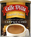 Caffe D'Vita English Toffee Instant Cappuccino Mix 99% Caffeine Free 1 LB