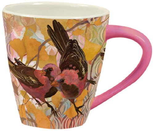 Artisan Lang  Gingko Birds Cafe Mug