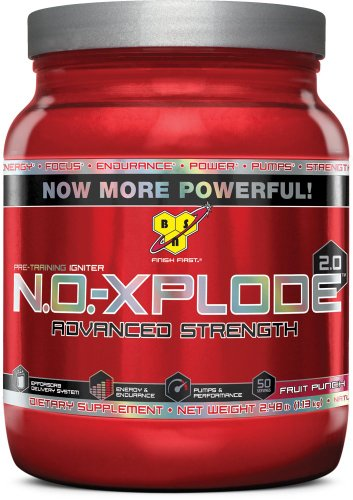 BSN N.O.-XPLODE 2.0 - Fruit Punch, 2.48 lb (50 Servings)