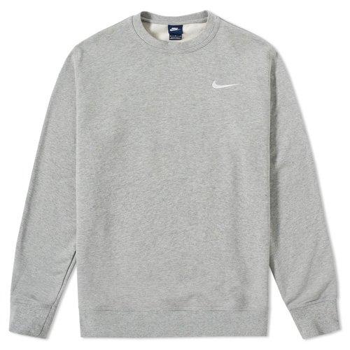 Nike felpa uomo Club ft Crew, Uomo, NIKE CLUB FT CREW, grigio, L