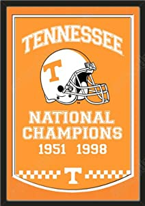 Dynasty Banner Of Tennessee Volunteers With Team Color Double Matting-Framed Awesome... by Art and More, Davenport, IA