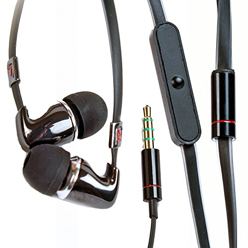 Alpatronix Ex110 High Performance Universal In-Ear Earphones With Built-In Mic (Black)