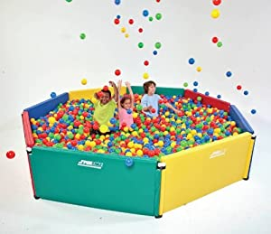 Commercial Grade 10' x 10' Pentagon Ball Play Pit - Includes 9,000 Balls!