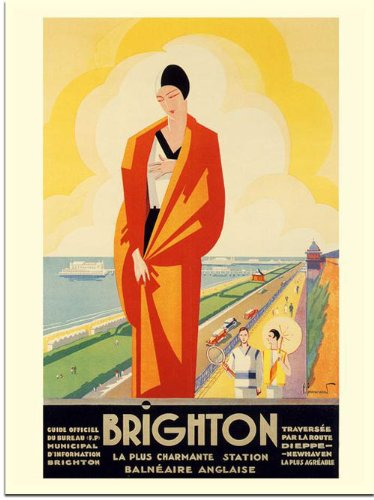 Brighton, Art Deco Travel Advert, Artist: Perre Commaramond, 1920s (30x40cm Art Print)