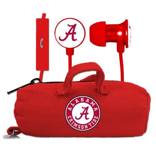 NCAA Alabama Crimson Tide Scorch Earbuds and Mic Clamshell with BudBag