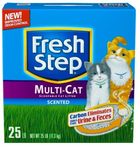 fresh-step-scoopable-cat-litter-multiple-cat-25-pound-box