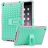 iPad Mini Case, iPad Mini 2/ 3 Case - ULAK 3in1 Hybrid Shockproof Kickstand Case For iPad Mini 1/2/3 (Mint/Gray)
