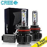 MZS LED ヘッドライト電球 オール イン ワン 変換 キット - 9007 -7,200Lm 80W 6000K クール ホワイト クリー - 3年保証