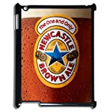 Newcastle Brown Ale Beer Sign Snap On Ipad 2/3/4 Black Plastic Case and Water Proof Ipad 2/3/4 Case