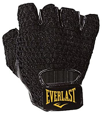 Everlast Mesh Leather Weightlifting Glove - Black from Everlast