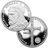 Polish Piast Dynasty: King Wladyslaw I Herman - 925pf Silver Medal