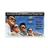 GMS Optical® Premium Grade Comfortable Silicone Anti-slip Holder for Glasses, Ear Hook, Eyeglass Temple Tip (1 Pair, Black)