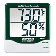 Extech 445703 Big Digit Hygro-Thermometer with Min/Max