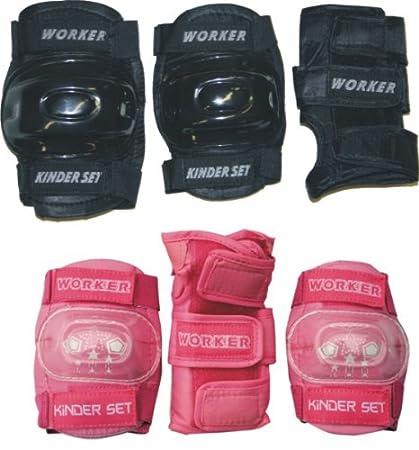 Children's Pad Protector Set Pink Size M 130 - 155 cm