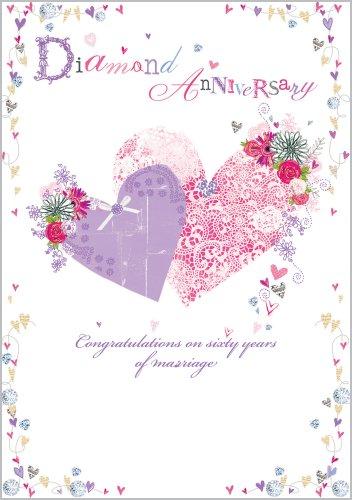 Diamond Wedding Anniversary Card