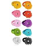 10 Assorted Daisy Flower Clips & 10 Assorted Crochet Headbands By Boutique Cutie