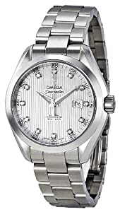 Omega Women's 231.10.34.20.55.001 Seamaster Aqua Terra Automatic White Mother-Of-Pearl Dial Watch