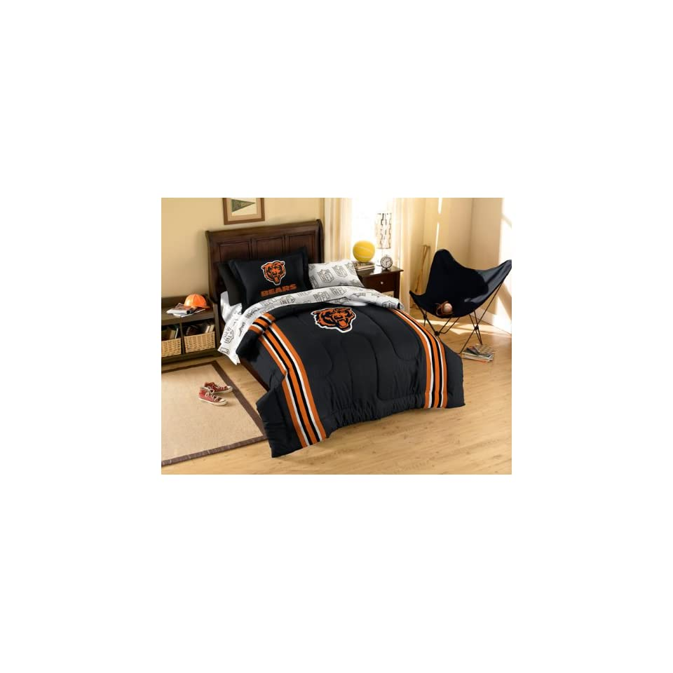 08fb63b9 NFL Chicago Bears Bedding Set 7pc Football Comforter Set Full Bed on ...