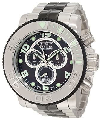 Invicta Men's 10766 Sea Hunter Pro Diver Chronograph Black Mother-Of-Pearl Dial Watch