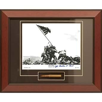 Century Concept Iwo Jima Framed Photograph Signed by Survivor Mahlon Fink