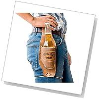 Hide & Drinkによる便利でカッコいいカウボーイ風の手作りビール・ホルスター (ブルボン・ブラウン)