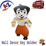 ATOZ SALES WOODEN CHOTA BHIM KEY HOLDER / WALL MOUNTED KEY HOLDER/ KEY RACK HOOKS - B013MAUDO2