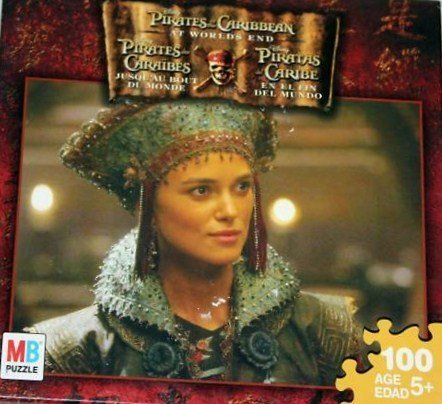 Elizabeth Swan Pirates of the Caribbean At Worlds End - Jigsaw Puzzle by Milton Bradley