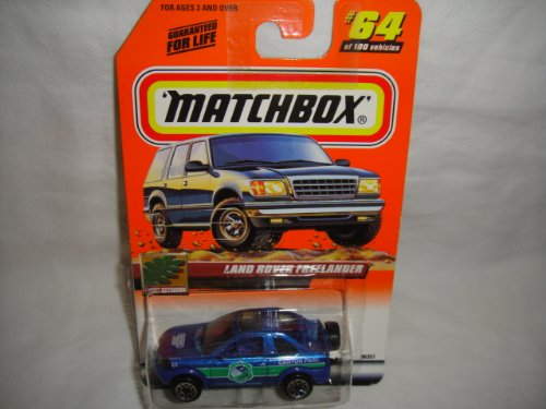 "MATCHBOX #64 OF 100 GREAT OUTDOORS SERIES BLUE AND GREEN LAND ROVER FREELANDER ""2000"" TEMPO CHASE EDITION DIE-CAST - 1"
