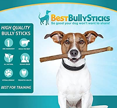 100% Natural Bully Sticks by Best Bully Sticks, Grass Fed Beef with No Hormones or Chemicals