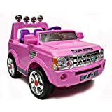 Girls Pink 12v Electric Ride On Jeep With Parental Remote Control For Ages 3 Years Plus