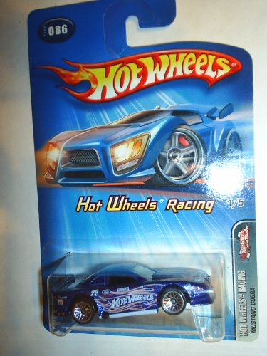 hot wheels blue mustang cobra hot wheels racing 2005 1/5 86 - 1
