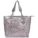 Desi Panache Giselle Handbag (Silver)