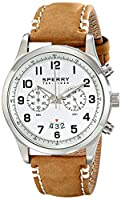Sperry Top-Sider Men's 10018675 Leeward Analog Display Japanese Quartz Brown Watch from Sperry Top-Sider Watches MFG Code