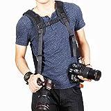 PhotoTrust Quick Release Dual-shoulder Camera Neck Strap for Canon - Nikon - Pentax - Panasonic - Sony - Samsung - Olympus - Fujifilm DSLR Cameras + PhotoTrust Microfiber Cleaning Cloth
