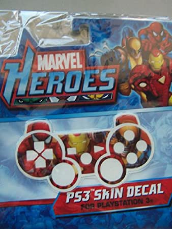PS3 Skin Decal Marvel Heroes Spider-Man Iron Man Wolverine