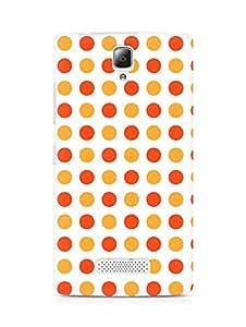 Amez designer printed 3d premium high quality back case cover for Lenovo A2010 (Orange Dots Pattern)