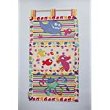 EXTRA-LARGE HAND MADE DESIGNER FABRIC BABY NURSERY WALL HANGING WITH APPLIQUEby Lizzy-lou