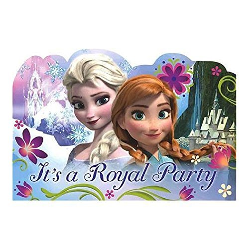 Anna and Elsa Frozen Party Invitations - 8 Pack - 1