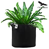 Freehawk® Planting Grow Bags, Soft-Sided Fabric Garden Plant Container Aeration Planter Pots, Smart Pot Soft-Sided Container, 10 gallon, 5 Pack, Black (10-Gal)