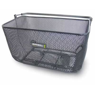 Basil Catu Rear Bicycle Basket, Titanium