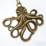 Steampunk Octopus Nautical Pirate Necklace Pendant Charm--comes in Free Gift Bag