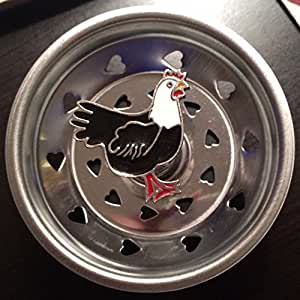 Linda lou decorative sink strainer rooster kitchen dining - Decorative kitchen sink strainers ...