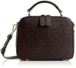 Orla Kiely Textured Leather Mini Shoulder Bag